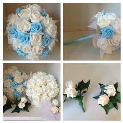 Baby blue & white flowers