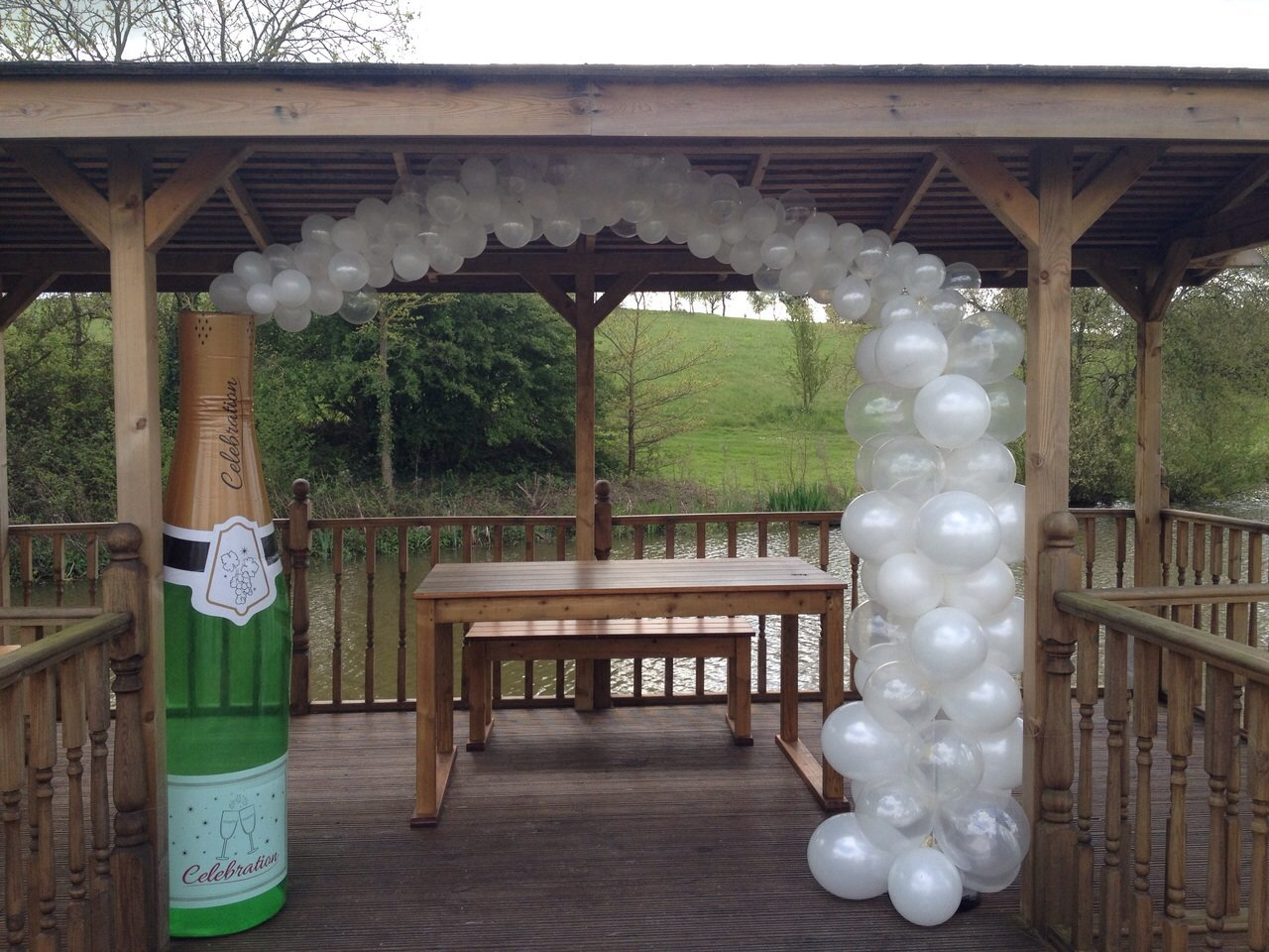 Champagne bottle arch at Warley Park Golf Club