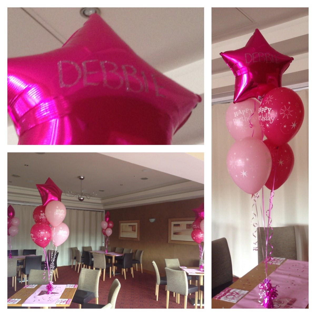 Birthday balloons with personalised foils at Club Kingswood