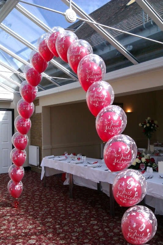 Double bubble balloon arch at The Old Rectory