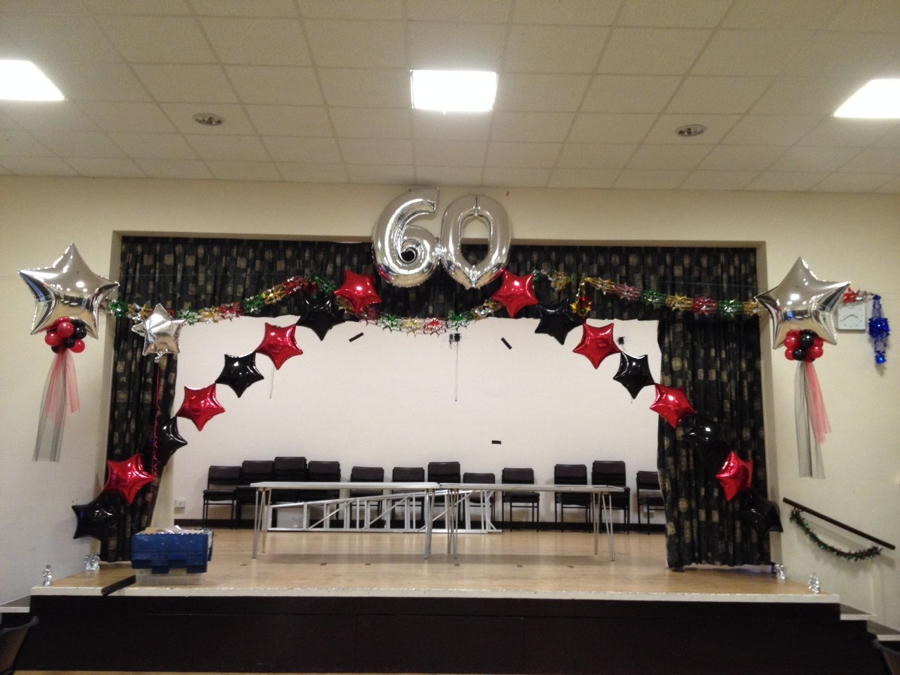 60th balloon arch at Orsett Village Hall