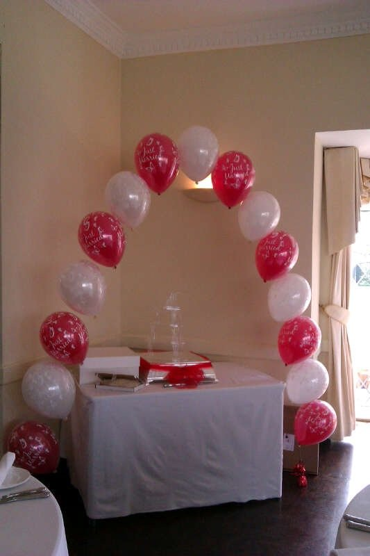 Printed latex balloon arch at The Old Rectory