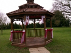 Gazebo decoration at The Old Rectory