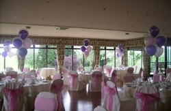 Wedding Decorations at Three Rivers Golf and Country Club